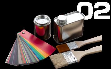 100種類以上の塗料を取り扱い