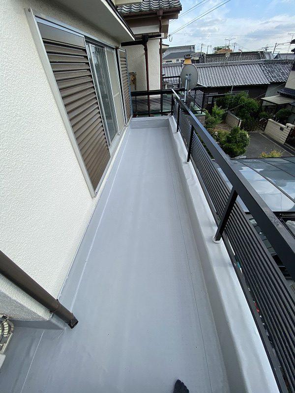 東大阪市でベランダ防水工事(雨漏り対策)