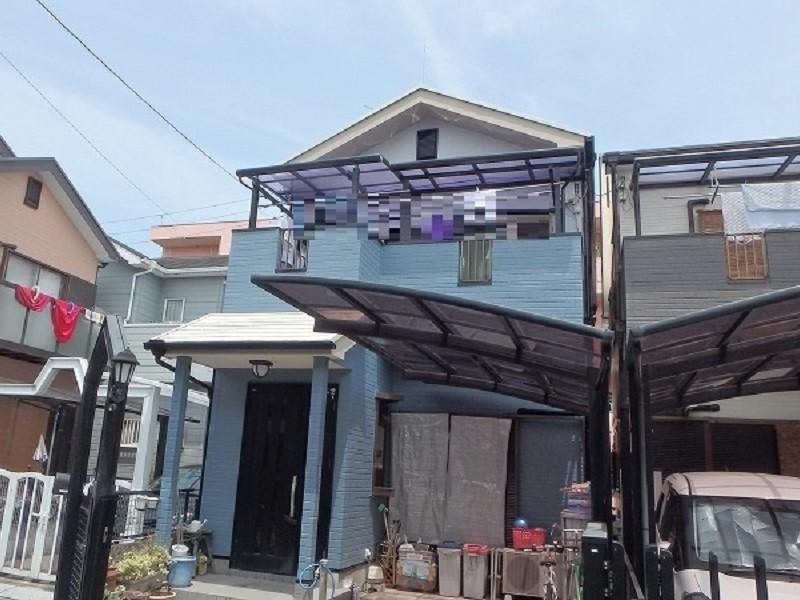 藤井寺市にて外壁リフォーム(外壁と屋根の塗装を実施)