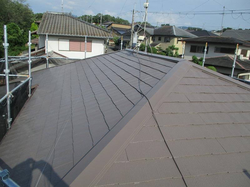 河内長野市 遮熱塗料アレスクールでの屋根塗装リフォームを実施